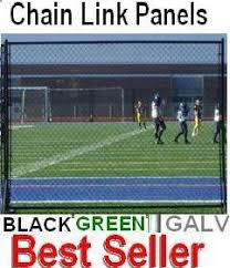 Chain Link Fence Panel Black Green Portable Kit Fence Material