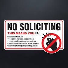 No Soliciting Stop Cold Calling No Canvassers Callers Door Sticker Decal Car Stickers Aliexpress