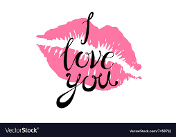 i love you kiss red lips pink royalty