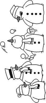 Kleurplaat Sneeuwpop Sneeuwpop Sneeuwpop Kerst Knutselen Kerst
