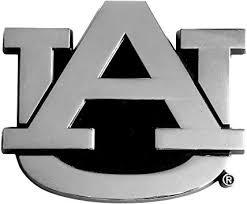 Amazon Com Fanmats 14788 Ncaa Auburn University Tigers Chrome Team Emblem Automotive