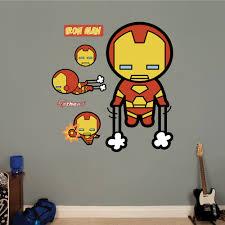 Kawaii Iron Man Realbig Wall Decal
