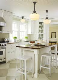 great lighting in a lovely kitchen can