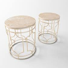 coffee marble tables with gold frame