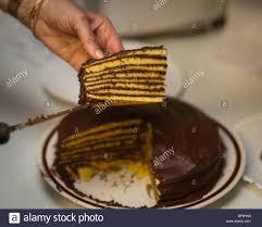 Smith Island Cake by Mary Ada Marshall , Tylerton Maryland Stock Photo -  Alamy