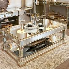 andreas champagne gold trim mirrored