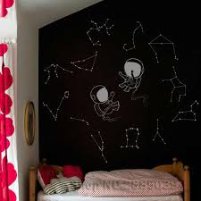 Two Astronauts With Constellations Wall Decals Stars Decal Kids Nursery Diy Wall Stickers Constellation Murals Home Decor Lc580 Wall Stickers Aliexpress