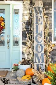 Huge Front Porch Welcome Sign The Wood Grain Cottage