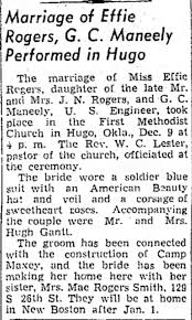 2nd marriage of Effie Rogers Frazer - Newspapers.com