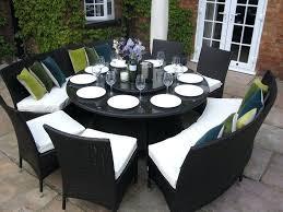 magnificent round garden table set
