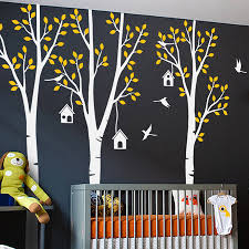 Perfect Quality 92 5 Wall Stickers Tree Three Trees With Birds And Birdhouse Sticker Baby Nursery Vinyl Wall Art Decals Za197 Sticker Tree Wall Sticker Treevinyl Wall Art Decals Aliexpress