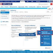 hdfc bank netbanking regenerate your ipin