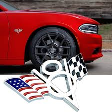 Decal Metal Emblem Badge Car Auto Fender Side Skirt Sticker Usa American Flag Auto Parts And Vehicles Car Truck Exterior Mouldings Trim Magenta Cl