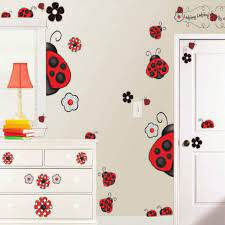 Borders Unlimited Inc Ladybug Super Jumbo Wall Decal 10006 The Home Depot