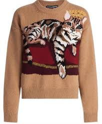 Dolce&Gabbana D&g Cashmere Cat Detail 2017 Collection Tan Sweater ...