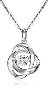 sterling silver rose pendant necklace