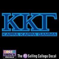 Kappa Kappa Gamma Car Decal