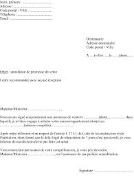 modèle type lettre annulation promesse