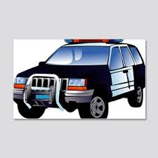 Occupations Police Car Kids Wall Decals Cafepress