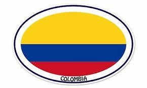 Colombia Grunge Flag Car Bumper Sticker Decal 5 X 5 Automobilia Collectibles Collectibles Transportation