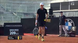 Sinner dumps Tsitsipas 6-1 6-7(9) 6-2 : tennis