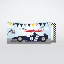 Invitacione De Cumpleano Formula 1