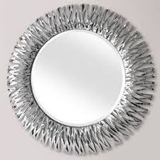 round wall mirror chrome silver
