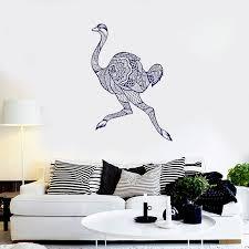 Stizzy Wall Decal Running Ostrich Wall Sticker Modern Animal Art Mural Livingroom Decoration Accessories Creative Funny Diy A655 Wall Stickers Aliexpress