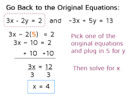 solving a system of equations using