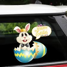 New Removable Reusable Stickers For Car Happy Easter Bunny Hatched Car Styling Home Car Stickers And Decals Car Stickers Car Stickers Aliexpress