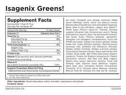 isagenix greens nutrition super
