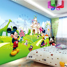 Lovely Mickey Minnie Photo Wallpaper 3d Wall Mural Cartoon Wallpaper Boys Kids Girls Room Decor Bedroom Art Home Decoration Photo Wallpaper 3d Photo Wallpaperwallpaper 3d Aliexpress