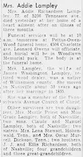 Addie Lampley Richardson 1956 - Newspapers.com