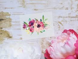 Flower Bouquet Sticker Purple Peony Floral Vinyl Decal Etsy