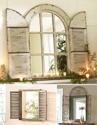 vintage window shutter decor