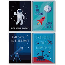 Amazon Com Pillow And Toast Space Decorations For Kids Room Kids Wall Art Posters For Boys Room Decor Kids Bedroom Wall Decor Kids Room Decor Baby Nursery Decor Perfect Home Decor Match Size