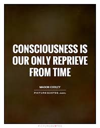 consciousness is our only reprieve from time picture quotes
