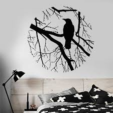 Bird Branch Crow Gothic Style Circle Vinyl Wall Decal Home Decor Living Room Art Mural Removable Wall Stickers Wall Sticker Removable Wall Stickersvinyl Wall Decals Aliexpress