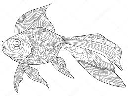 Pictures Goldfish To Color Goldfish Coloring Book Vector For