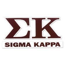 Sigma Kappa Greek Letter Decal University Of Alabama Supply Store