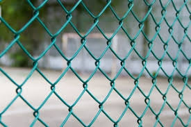 1 5mtr Pvc Chain Link Fence 5ft Green Plastic Coated Steel Mesh Roll