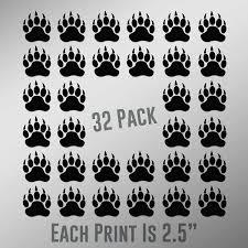 Amazon Com Bear Paw Prints Vinyl Decal Sticker Car Waterproof Car Decal Bumper Sticker 5 Kitchen Dining