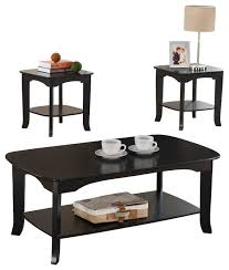 piece wood coffee table and end tables