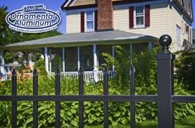 Eastern Ornamental Aluminum Style Eo4101 Four Foot Tall Shown With Ball Cap On The Standard 2x2 Post Pro Fence Supply