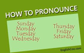 nama hari dalam bahasa inggris gampang cara mengucapkannya