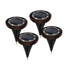 Click Led Solar Disc Lights 4 Pack Bunnings Warehouse