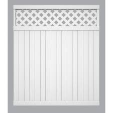 Outdoor Essentials 6 Ft H X 6 Ft L Lattice Top White Vinyl Privacy Fence Do It Best World S Largest Hardware Store