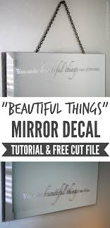 mirror decal
