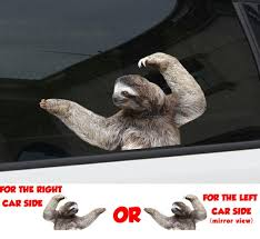 Sloth Window Sticker Car Sticker Sloth Car Decal Funny Etsy