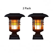1 2 pack flame post lantern outdoor